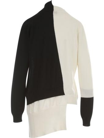 Y's Layering Taste Diagonal Cd Sweater