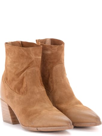 Moma Ankle Boots In Brown Suede