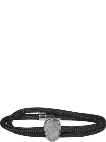 Alexander McQueen Skull Tag Double Wrap Bracelet
