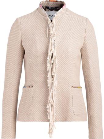 Bazar Deluxe Beige Jacket With Fringes