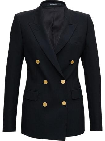 Tagliatore Double-breasted Blazer In Wool Blend