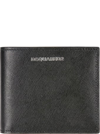 Dsquared2 Grained Leather Logo Wallet