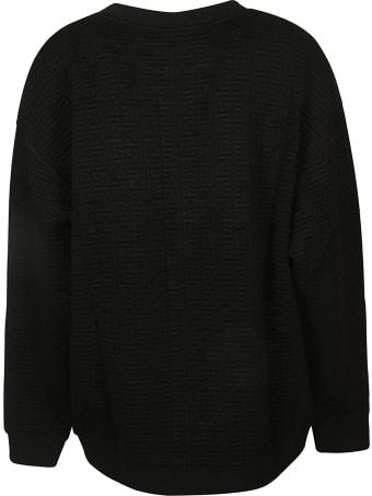 Balmain Embossed Logo Ribbed Sweater