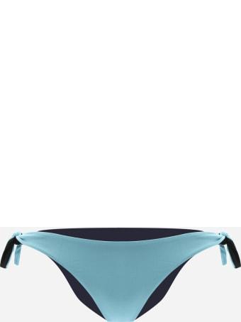 Fisico - Cristina Ferrari Two-tone Bikini Bottoms With Side Knot