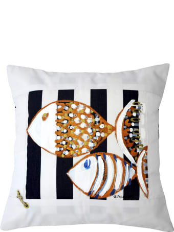 Le Botteghe su Gologone Cotton Hand Painted Indoor Cushion 40x40 cm