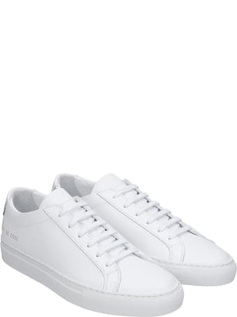 Common Projects Achille Sneakers In White Leather