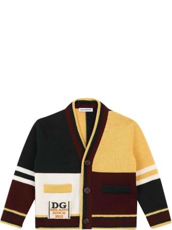 Dolce & Gabbana Color Block Cardigan Baby