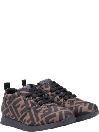 Fendi Brown Sneakers