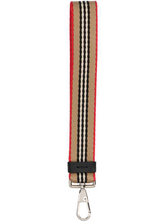 Burberry 'stripe Check' Keyring
