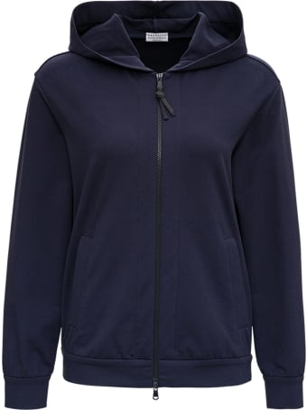 Brunello Cucinelli Blue Cotton Sweatshirt