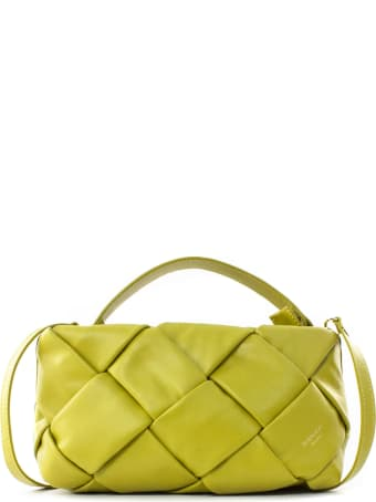 Avenue 67 Greta Clutch Bag In Yellow Leather