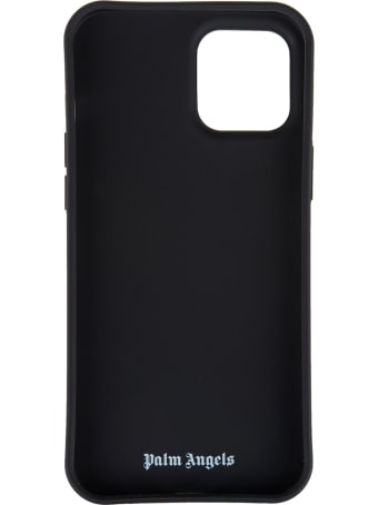 Palm Angels Black Iphone 12 Pro Max Case With Palms And Stars