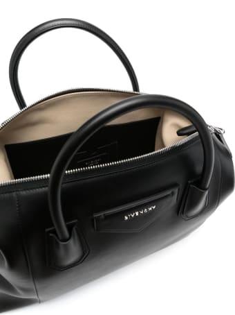 Givenchy Medium Soft Antigona Bag In Black Smooth Leather