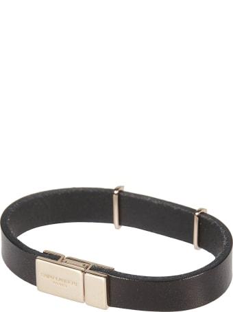 Saint Laurent Logo Plaque Bracelet