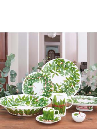 Taitù Set of 4 Salad Plates - Fil Rouge Foglie Collection