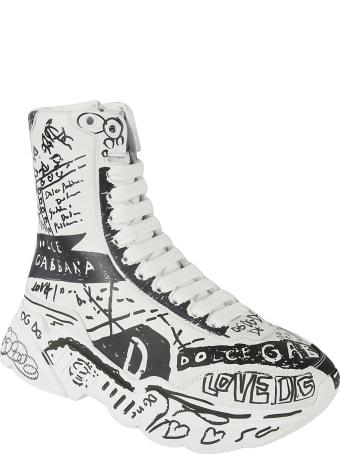 Dolce & Gabbana Alta Logo Print High Sneakers