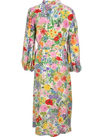 Gucci Ken Scott Print Silk Dress