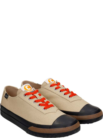 Camper Camaleon Sneakers In Beige Canvas