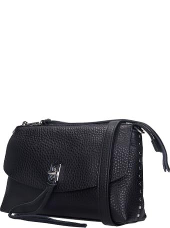 Rebecca Minkoff Darren Top Zip Shoulder Bag In Black Leather