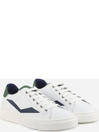 Voile Blanche Leather Sneakers With Contrasting Logo Detail