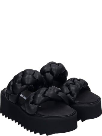 Bruno Bordese Rose Sandals In Black Leather