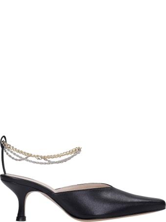 Kalda Ara Sandals In Black Leather