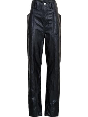 Isabel Marant Étoile Tessini Black Leatheret Pants