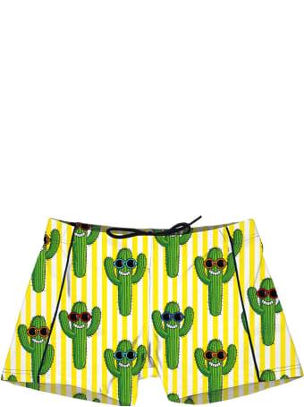MC2 Saint Barth Boy Swim Trunk Happy Cactus Print