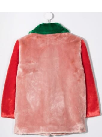 Stella McCartney Kids Multicolor Ecological Fur Coat