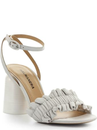 Halmanera Brigit White Heeled Sandal