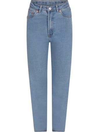 Levi's Light Blue ''ribcage'' Jeans For Girl