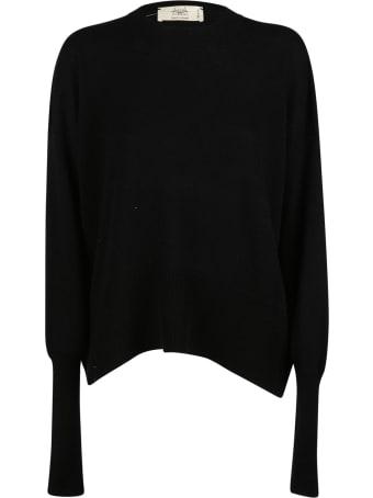 Maison Flaneur Side Slit Plain Sweater