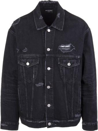 Balenciaga Unisex Black Large Fit Barcode Jacket