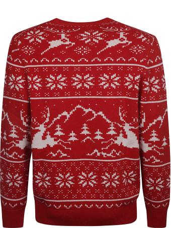 MC2 Saint Barth Stripe Pattern Logo Embroidered Sweater