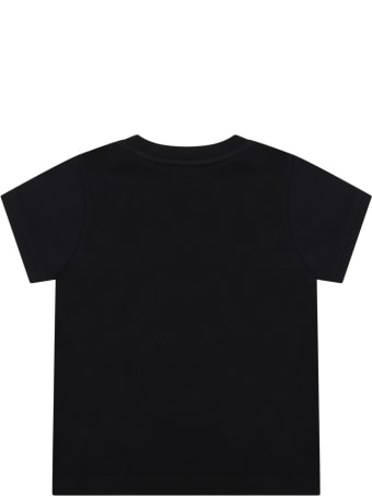 Givenchy Black T-shirt For Baby Kids With Logo
