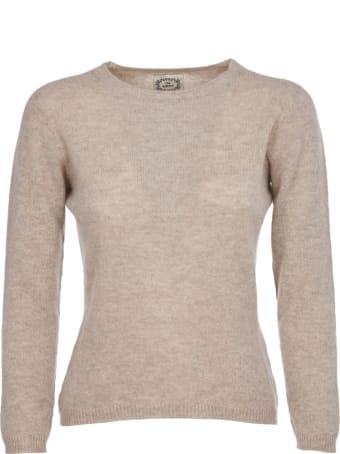 Pink Memories Beige Cashmere Sweater