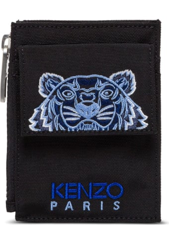 Kenzo Crossbody Cardholder With Tiger Embroidery