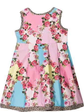 Miss Blumarine Sleeveless Floral Dress