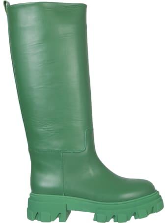 GIA BORGHINI Combat Leather Boots