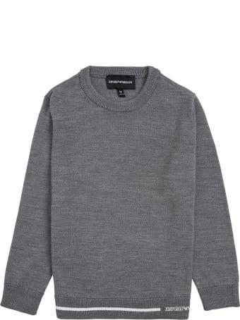 Emporio Armani Grey Sweater In Wool Blend