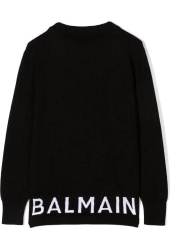 Balmain Black Virgin Wool Jumper
