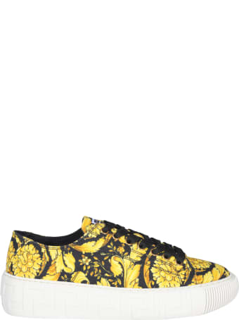 Versace Greca Sneakers With Barocco Print
