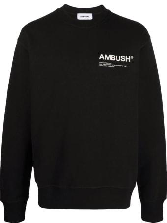 AMBUSH Black Cotton Sweatshirt