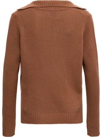 Allude Brown Cashmere Sweater