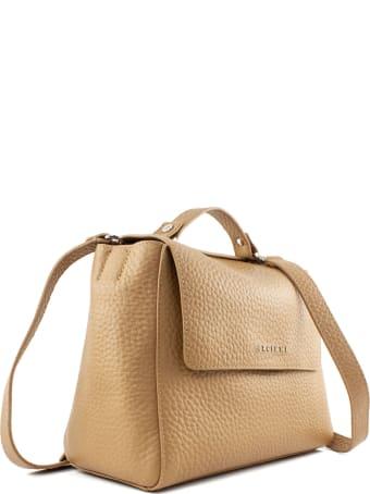Orciani Sveva Soft Small Beige Handbag
