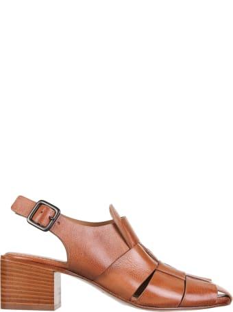 Open Closed High-heeled shoe