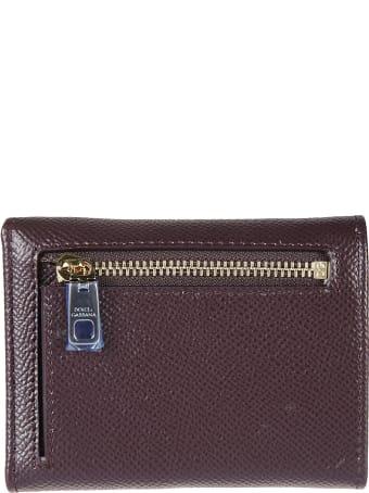 Dolce & Gabbana Logo Plaque Snap Buttoned Wallet