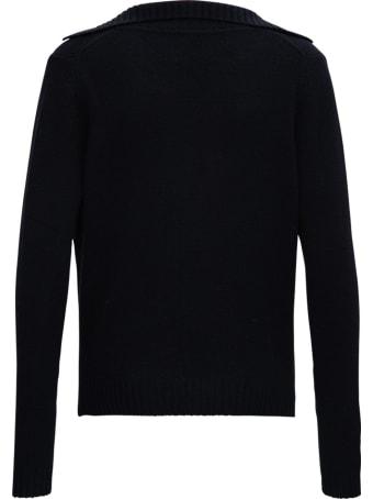 Allude Black Cashmere Sweater