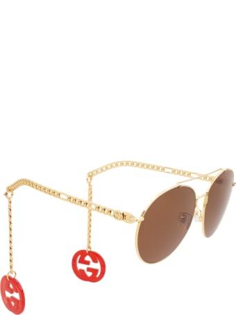 Gucci Gucci Gg0725s Gold Sunglasses