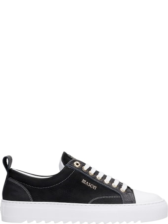 Mason Garments Astro Sneakers In Black Leather